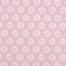 Baumwollstoff Sonne Kreis rosa weiß 1,45m Breite