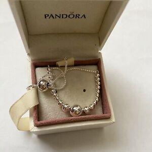 Pandora Silver String Of Beads Slider Bracelet Ale S925