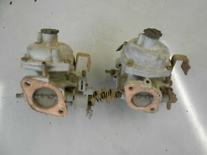 """TWIN STRONGBERG 1 1/2"""" TWIN CARBURETTORS FOR SPARES OR REPAIR"""