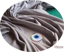 1met (x 100 112cm) GRIS PLATA Algodón Terciopelo para Confección -240 gsm