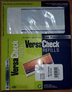 VersaCheck Prestige Blue Refill Personal 750 Checks Form # 3001