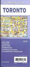 Street Map of Toronto, Ontario, Canada, by GMJ Maps