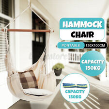 New listing Hammock Swing Chair Hanging Rope Chair Portable Porch Seat for Indoor Outdoor
