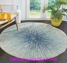 UNUSED ~ SAFAVIEH MARCELL 5' BURST ROUND INDOOR AREA RUG BLACK/IVORY
