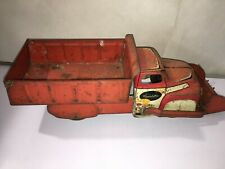 Vintage Pressed Steel Wyandotte Toys Dump with Front Loader Scoop Truck