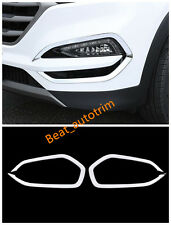 ABS Chrome Front Fog Light Lamp Cover Trim 2pcs For Hyundai Tucson 2016