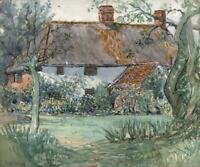 MAUD ISABEL GLYNN (1867-1956) Watercolour Painting FOUR WINDS COTTAGE c1930