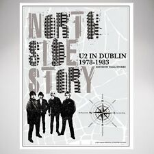 U2 in Dublin 1978-1983 North Side Story Book & Poster Map Niall Stokes New Nib