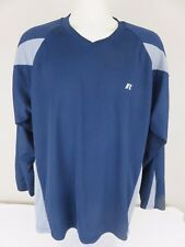 ca6cc991d2e84 Russell Athletic Para Hombre Azul Marino Gris Mangas Largas Pullover  Dri-power Camisa Grande