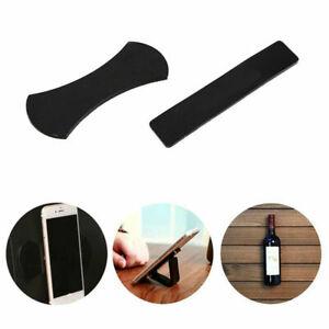 Fixate Gel Pad Sticky Anti Slip Nano Rubber Multi functional Phone Stand Black