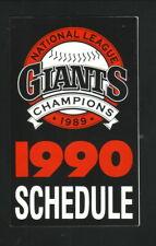 San Francisco Giants--1990 Pocket Schedule--Budweiser