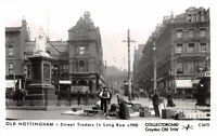 R231510 Old Nottingham. Street Traders in Long Row. Collectorcard. Post Card. 19