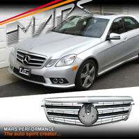 Black AMG Style Front Bumper GRILLE GRILL for Mercedes-Benz W212 E-Class 09-13
