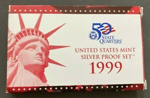 Vintage 1999 S, San Francisco Mint U. S. Mint Silver Proof Set!