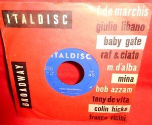 MINA Folle banderuola/ Un disco e tu 7' + PS 1959 ITALY MINT- Originale Perfetto
