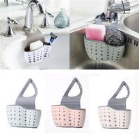 Hanging Drainer Basket Sink Shelf Soap Sponge Drain Rack Bathroom Drainer Holder