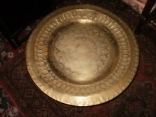 anglo.indian folding brass table hand beaten brass top of age1900s/50s