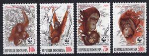 Indonesia - WWF - Orangutang  on postage stamps  MNH** CB2