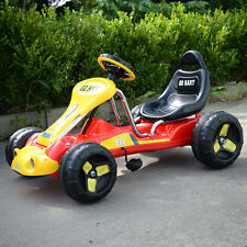 Go Kart Kids Ride 4 Wheel on Car Stealth Pedal Powered Outdoor Racer New Red