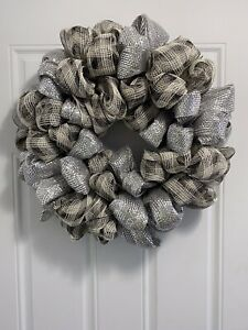 Elegant Christmas Wreath For Decoration inside your home or outside front door.