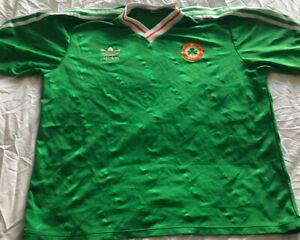 Republic of Ireland Shirt 1990 World Cup Original Adidas Football Jersey Medium