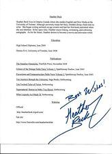 Heather Beck-- signed letter - COA - Pose 12