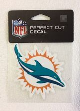 """Miami Dolphins 4"""" x 4"""" Team Logo Truck Car Auto Window Die Cut Decal New Color"""