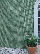 """""""Bambusflechtwerk""""-grün-TAPETE,Wintergarten,Bistro Puppenstube,30x53cm"""
