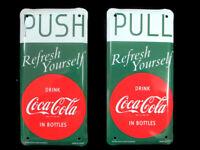 Coca-Cola Push Pull Door Screen Door Plate Set of 2 Refresh Yourself Disc