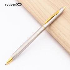 Luxury quality Jinhao 01 Silver sool office Medium nib Ballpoint Pen New