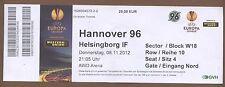 Orig.Ticket     Europa League 12/13    HANNOVER 96 - HELSINGBORG IF  !!  SELTEN