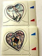 TIMBRE de COLLECTION CHANEL LOT 2 timbres Coeur non utilisé !