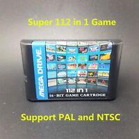 112 in 1 For Sega Megadrive Genesis Game Cartridge with Contra Gunstar Heroes