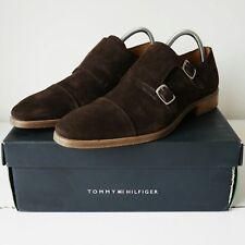 *NEW* Tommy Hilfiger Men's Monk Strap UK 11 Brown Suede Buckle Shoe 45 RRP £145