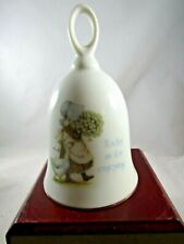 Vintage Holly Hobbit Porcelain Bell- Today is for Enjoying ~ 4.75� Tall