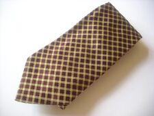 TKR415 ROXY TIES Krawatte bordeaux Karo 100% Seide wie Neu!
