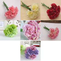Artificial Fake Carnation Silk Flower Wedding Party Bridal Bouquet Home Decor