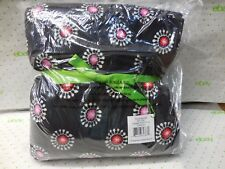 "Vera Bradley Fleece Throw Blanket PARISIAN POM POMS 50"" x 80"" NEW Free Shipping"