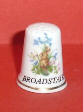 BROADSTAIRS Thimble with Rabbit Butterfly Flowers Bluebells by Lownds Pateman