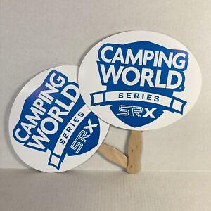 SRX Racing Inaugural Camping World Series Race Stafford Paper Fan Handle Stewart