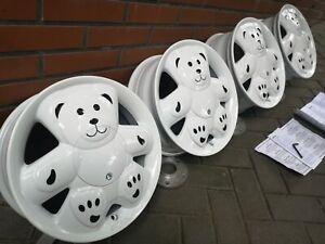 "NEW ! Ronal Urs Teddy Bear 14"" alloys 5x100 Seat Toyota Subaru VW vag retro rare"
