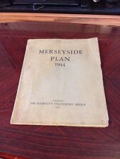 Rare Wwii Govt Issued Planning Doc For Reconstruction Of Merseyside - 1944-45