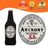 PERSONALISED EXTRA STOUT BEER ALE BOTTLE LABEL BIRTHDAY ANY OCCASION GIFT