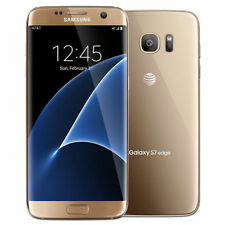 Samsung Galaxy S7 edge SM-G935A 32GB Gold AT&T Smartphone EXCELLENT Cond