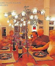 "27"" x 23""  Metal  ""Canopy Of Lights"" Table Top Candelabra Candle Holder-NEW"