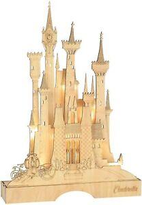 ENESCO Centerpiece Figurine,Brown,Cinderella Illuminated Castle 15.55 Inch