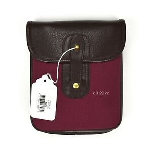 NWT $225 Ghurka Leather Canvas Pocket No. 202 Travel Pouch Burgundy AUTHENTIC