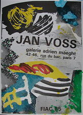 Jan Voss Affiche originale Lithographie figuration Narrative Art Abstrait