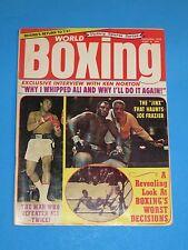 SEPTEMBER 1973 THE JINX THAT HAUNTS JOE FRAZIER ALI  WORLD BOXING MAGAZINE