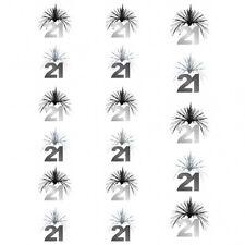 7ft Black Silver 21st Birthday Party Cascade Column